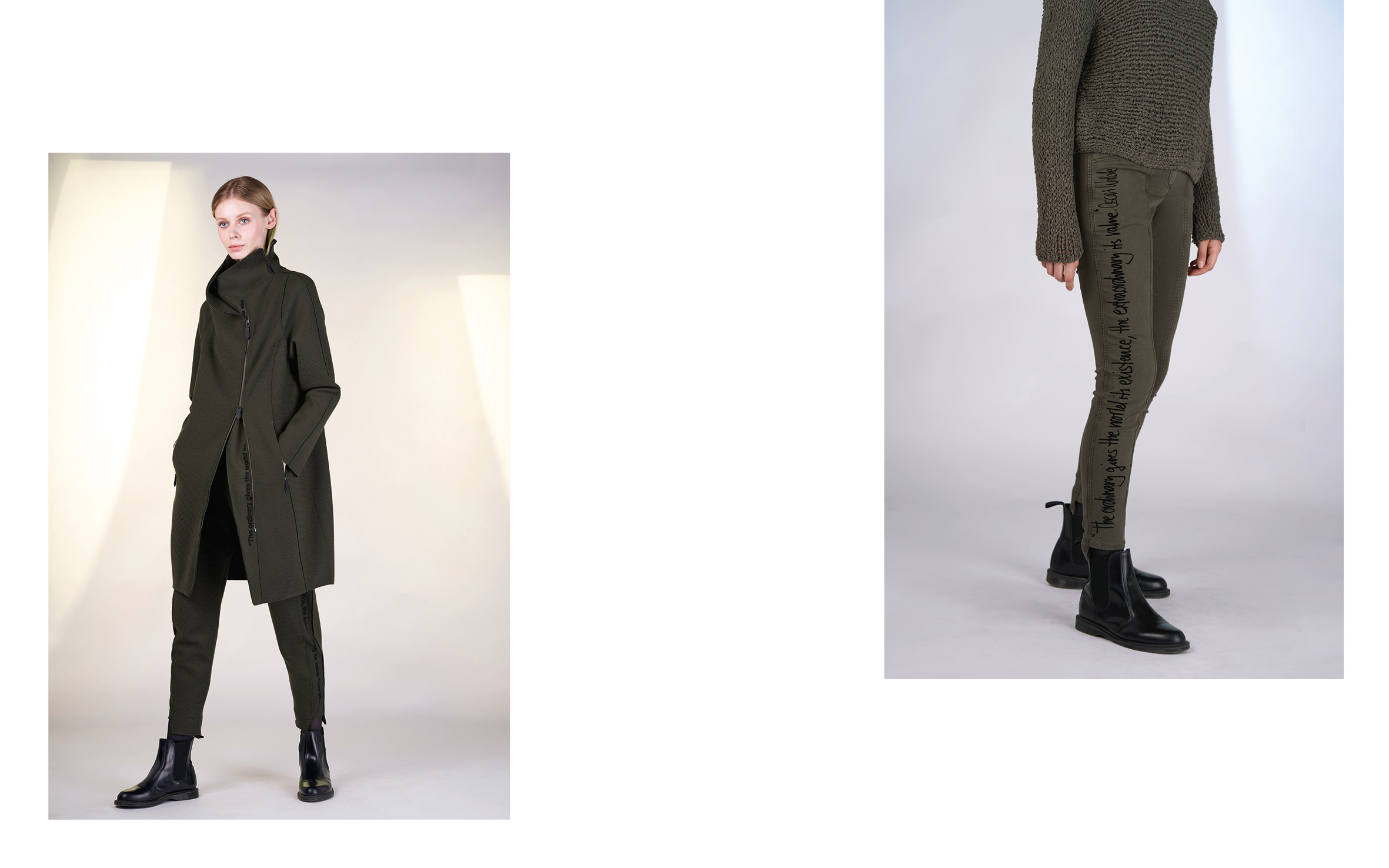 LEFT: coat KALA 27135-03 | pants KAT 27135-03   RIGHT: jumper DOLLY 27502-03 | pants VENUS 1 27160-03