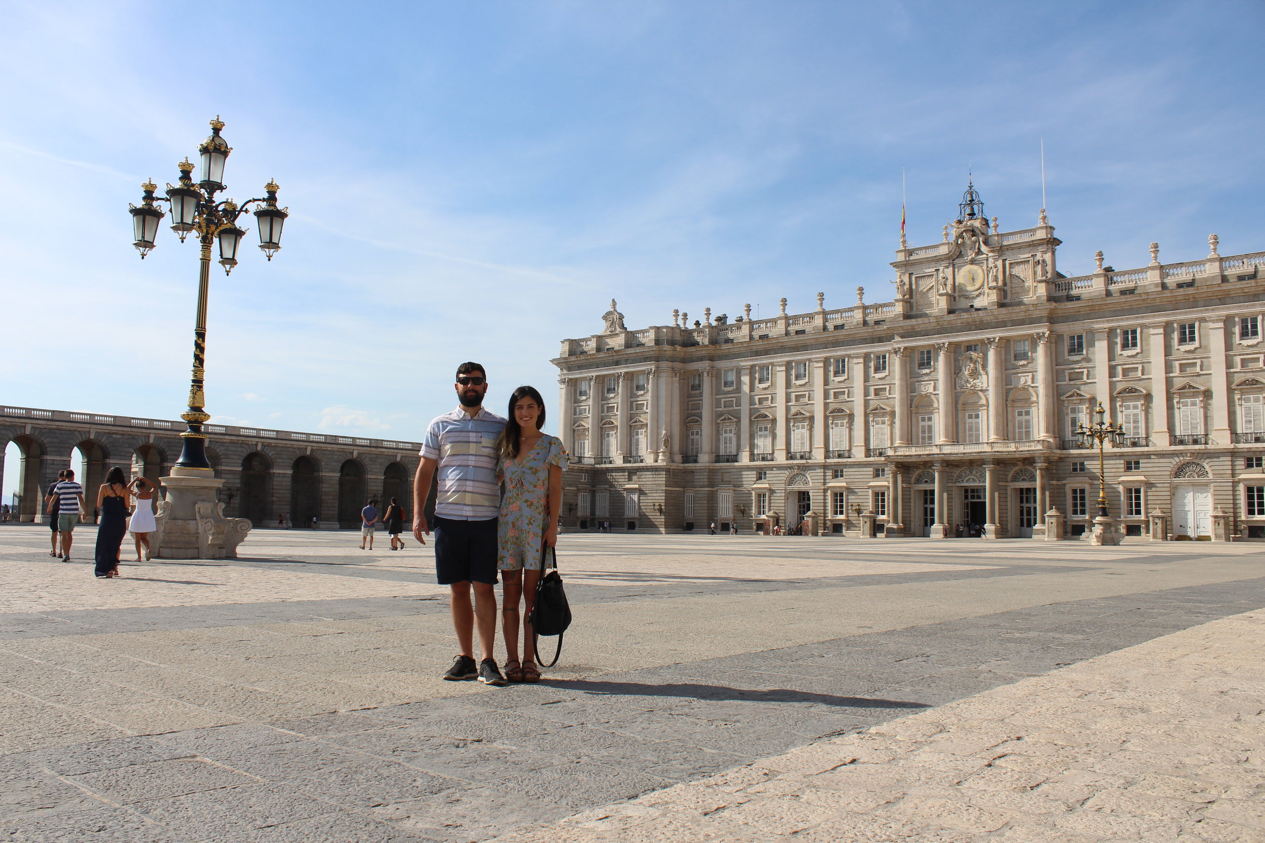 In front of The Royal Palace of Madrid