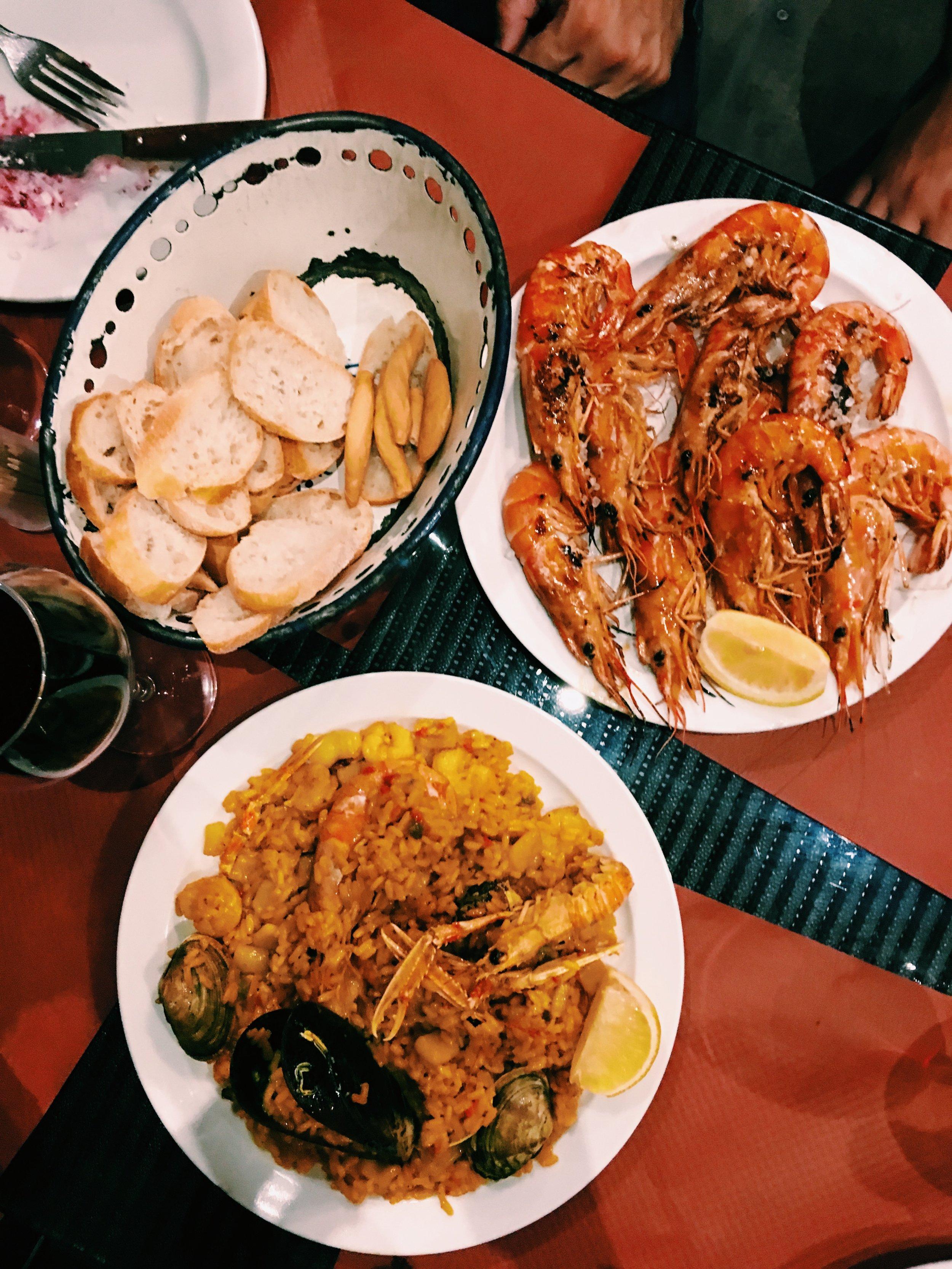 First taste of Spanish food at Alhambra