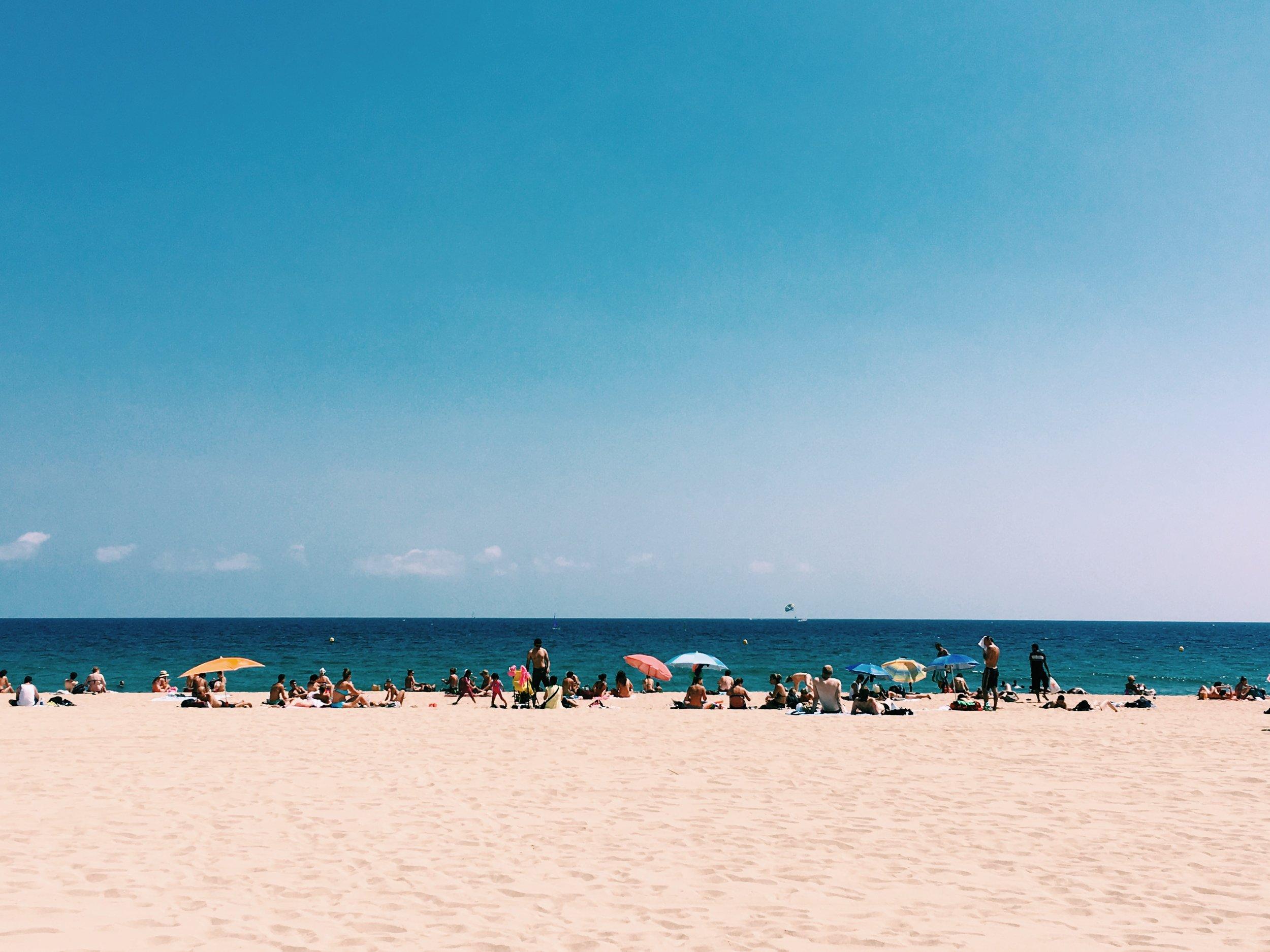 The beach in Barcelona