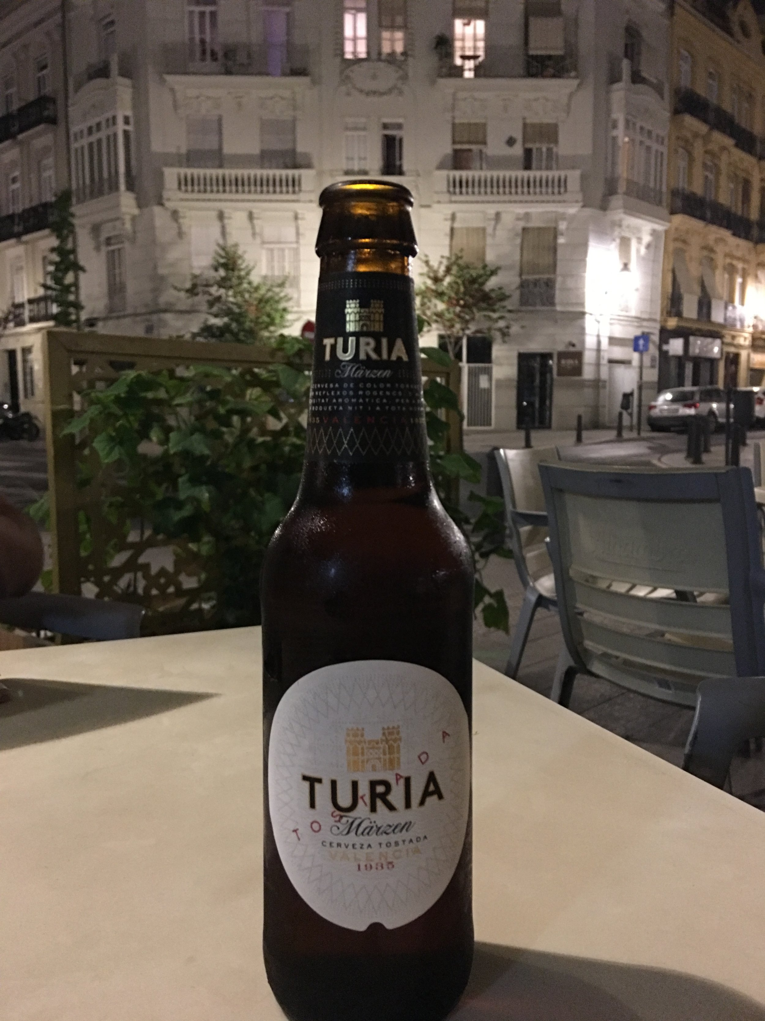 Chilling in Russafa enjoying a local beer