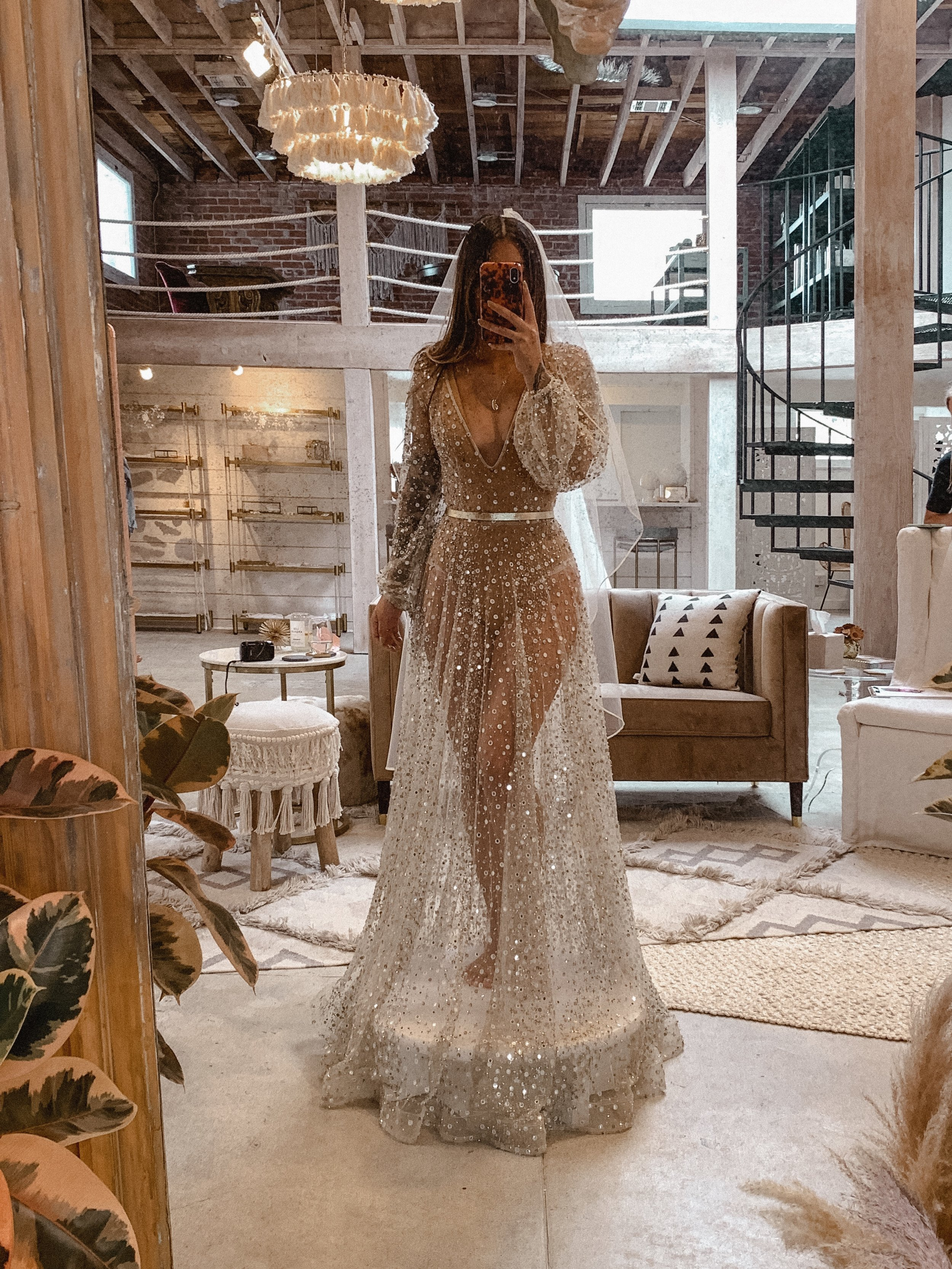 THE SHOW STOPPERThis was something I never thought I would try on but it was just sparkling away in the light. I put it on with a perfectly matched nude bodysuit and it was just insane. Perfect for a wedding on the beach. -