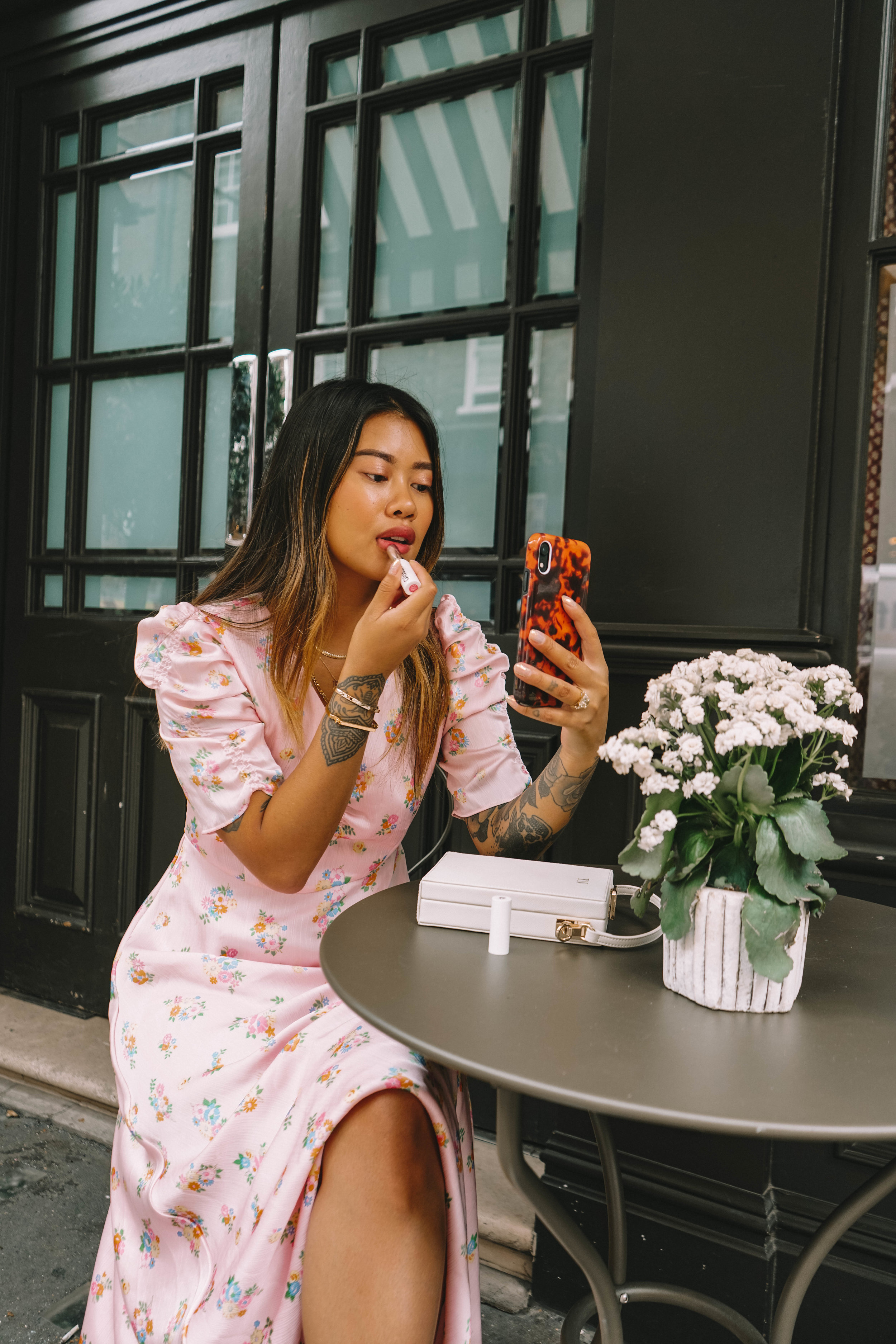 This dress sums up my current mood. Its girly yet fun and playful. With its floral print I wanted to keep the styling pretty simple. I paired with Daily Edited bag with it and wore my go-to trainers the Reebok Club C. -