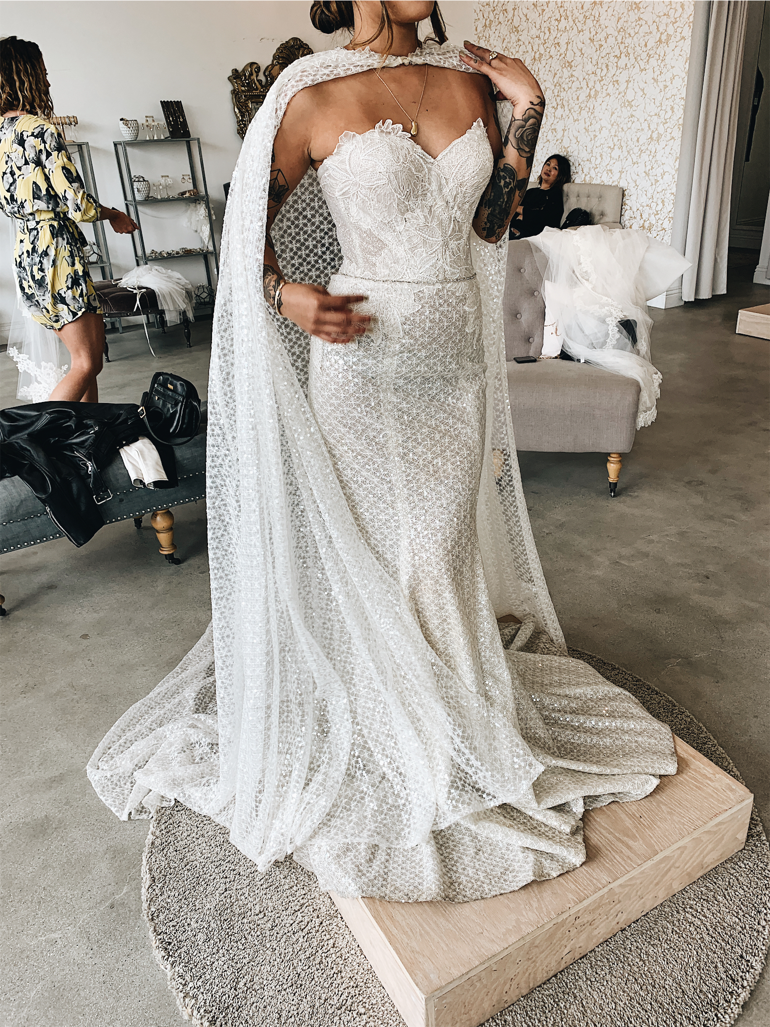 The Khaleesi dress - Now, this one is perfect if you love Game of Thrones. I felt so dramatic and powerful in this one. The cape, the sequins, the drama! The material was a bit scratchy though and felt like this fitted more with a winter wedding or something dramatic like a castle.