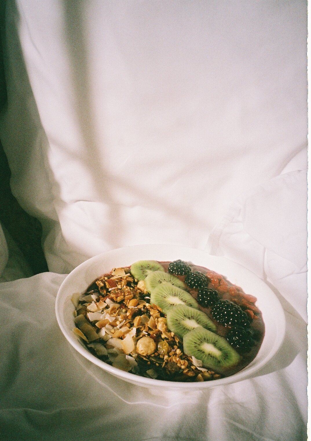 early morning rise the next day and started off with an acai bowl and matcha latte.