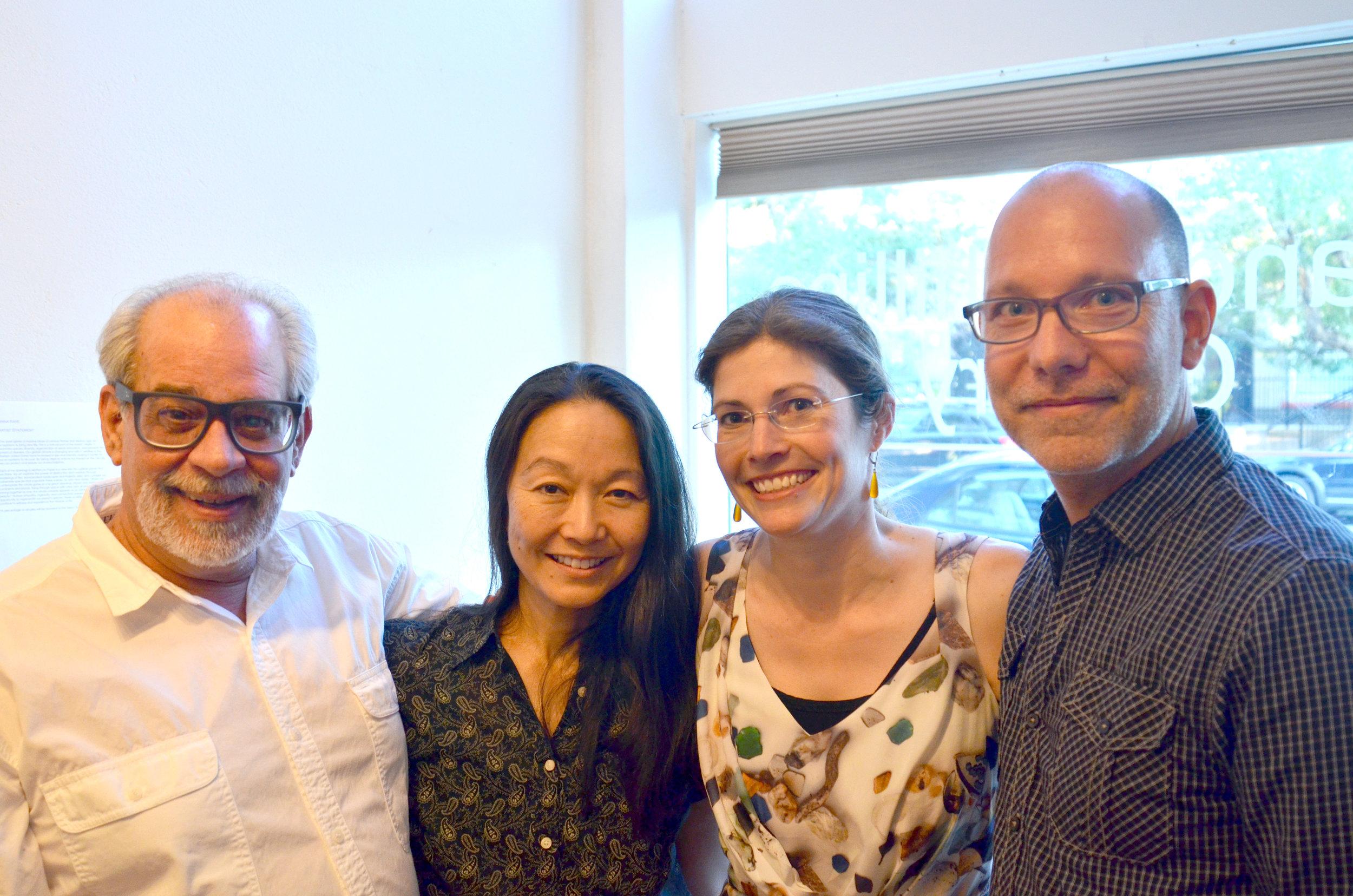 Michael Paglia, Margaret Kasahara, Anna Kaye, and Joshua Fieldat Sandra Phillips Gallery -