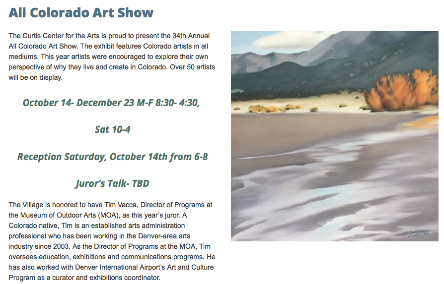 All Colorado Art Show -