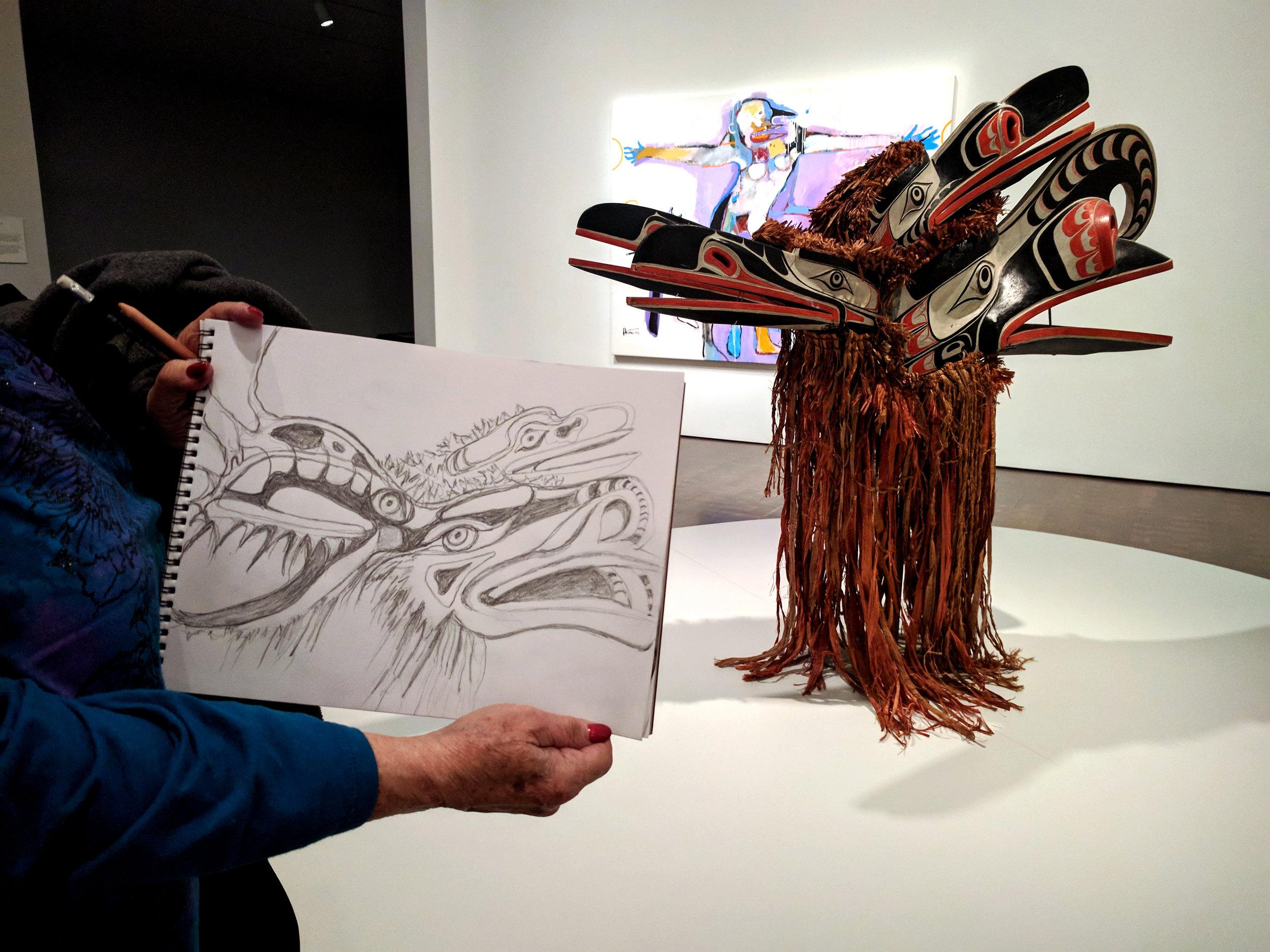 Mari Werner, graphite on paper