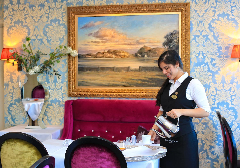 Kunst og interiør beriker sinnet under et opphold på Hotel Wassilioff.