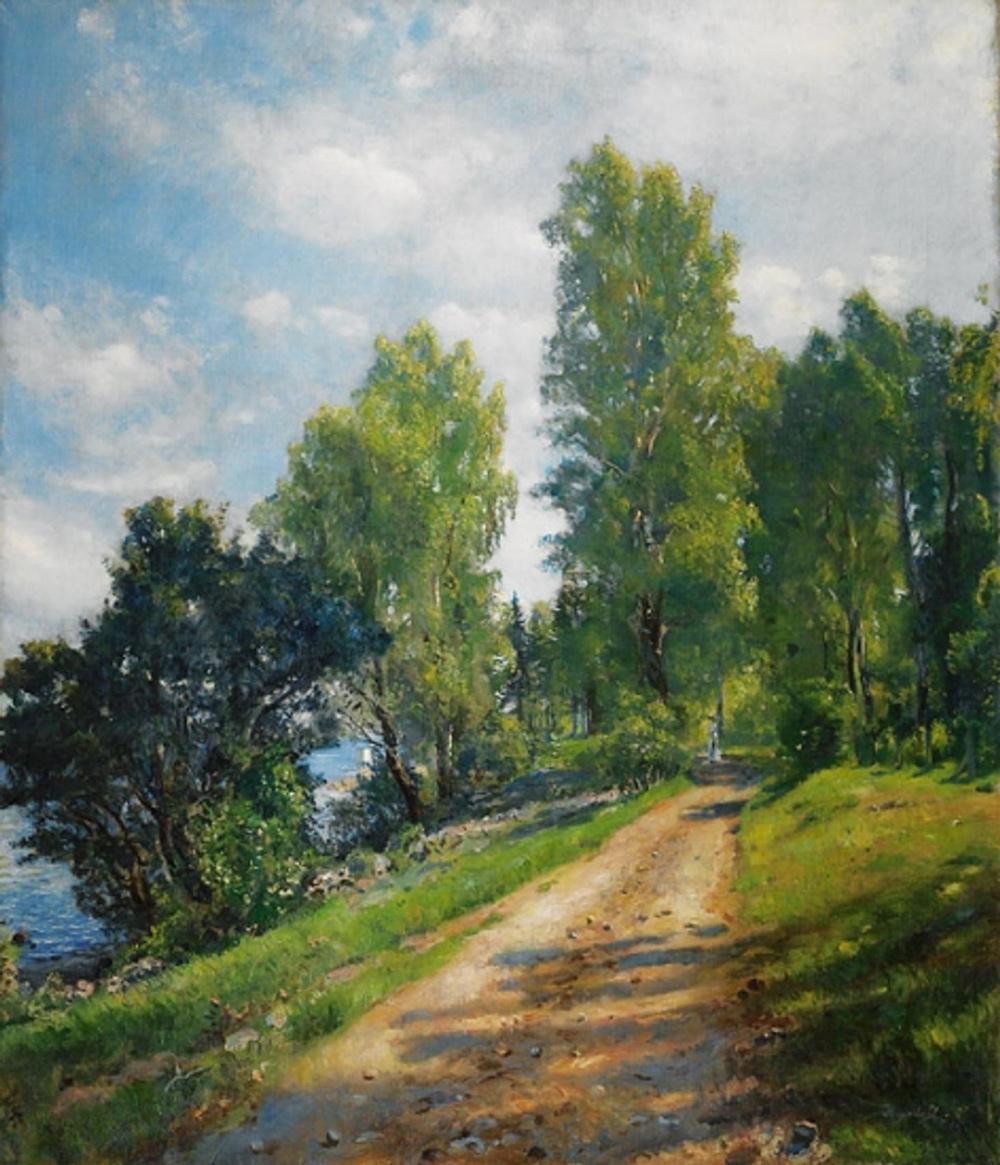 Turperle - Maler Hans Heyerdahl malte kyststien i Åsgårdstrand så fint i 1890. Landeveien er navnet på maleriet.