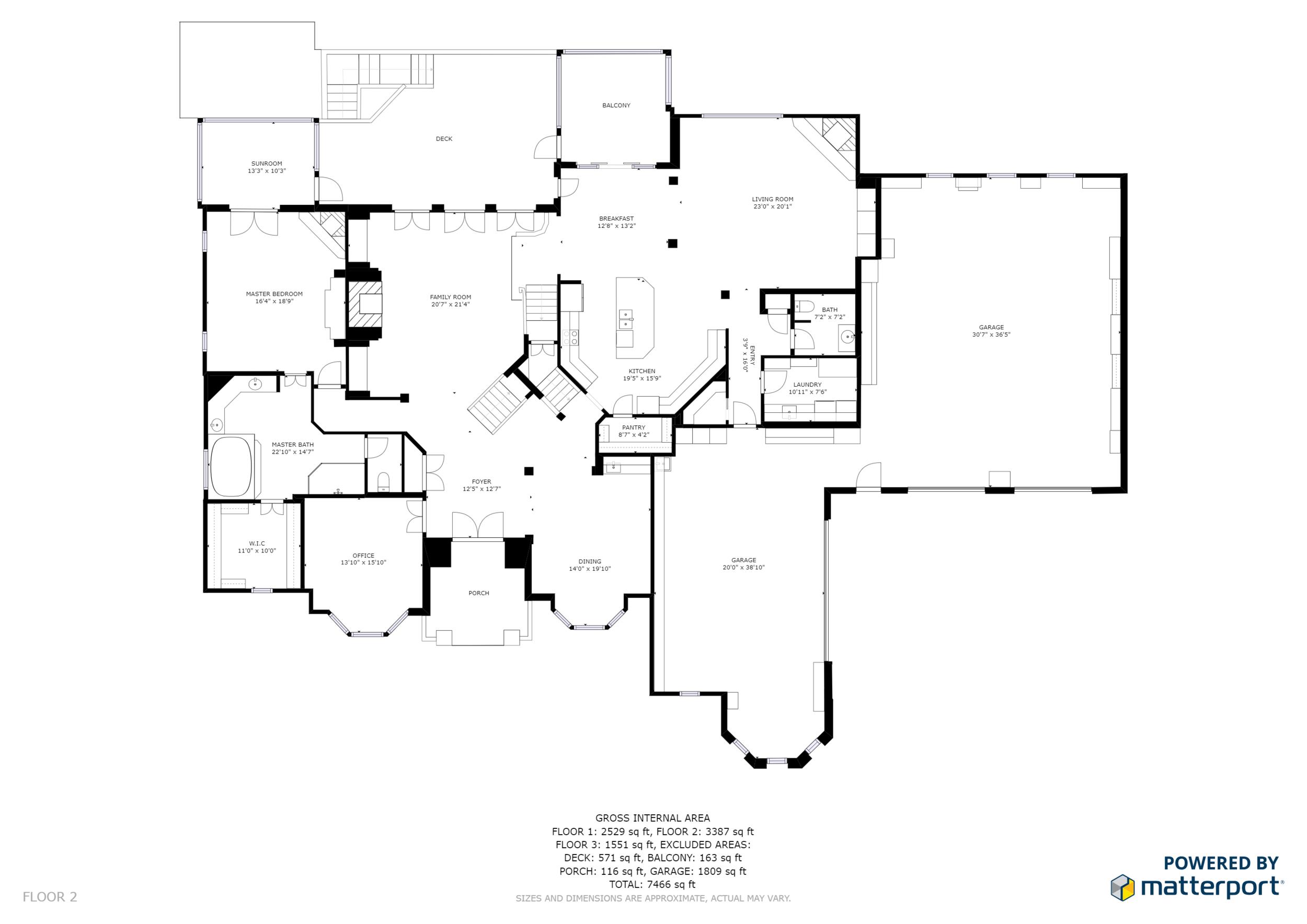 Black and White Floor Plan No Branding Floor 2