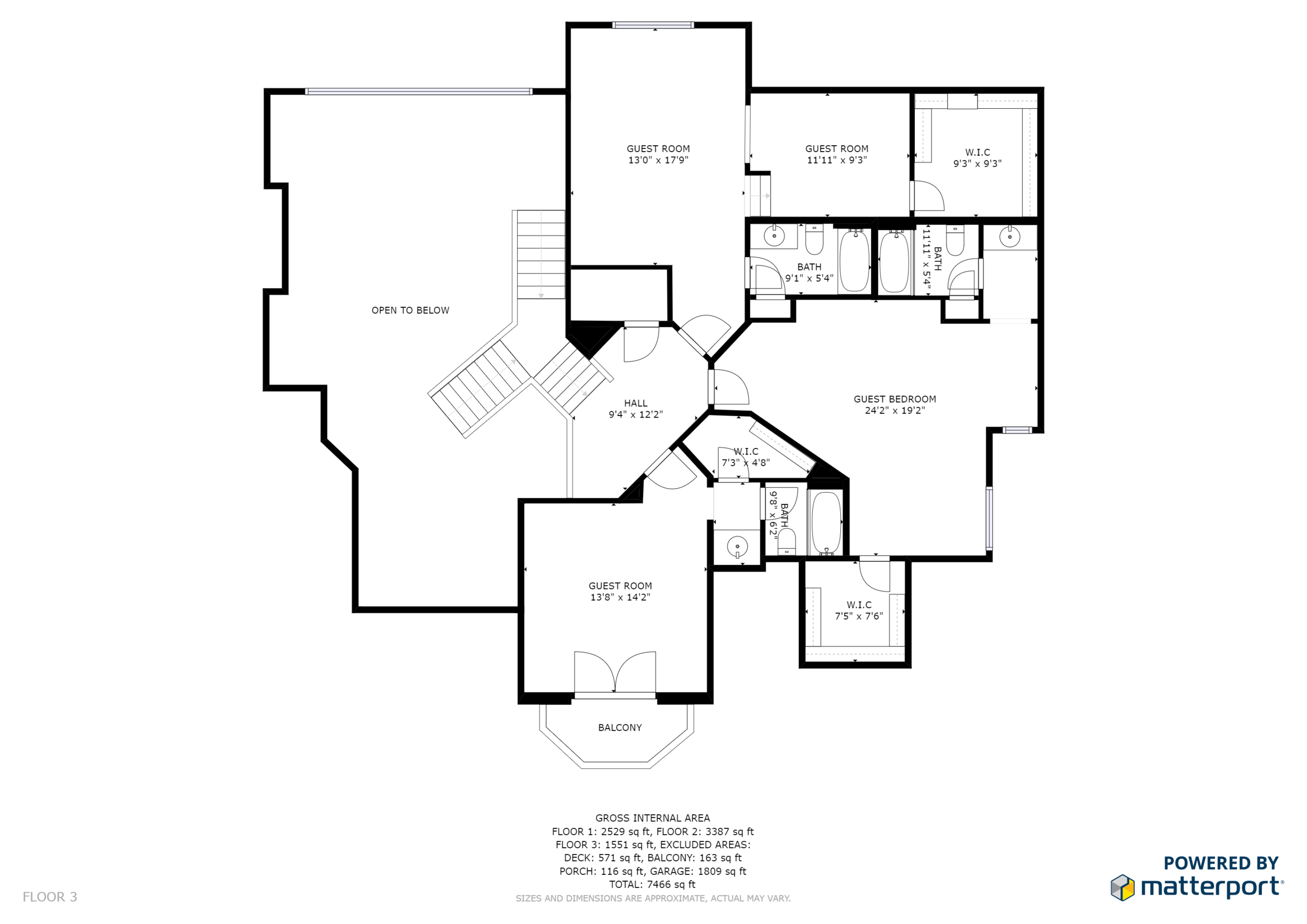 Black and White Floor Plan No Branding Floor 3
