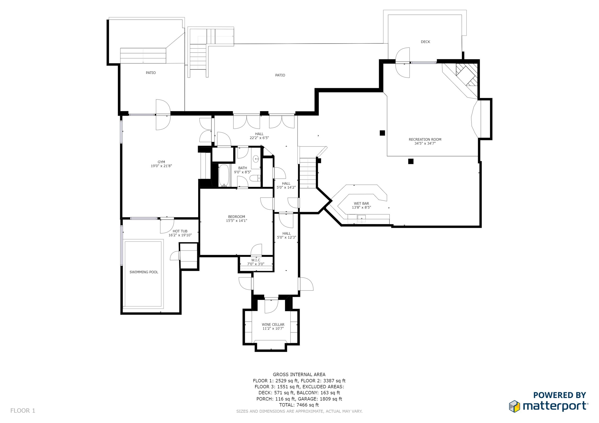 Black and White Floor Plan No Branding Floor 1