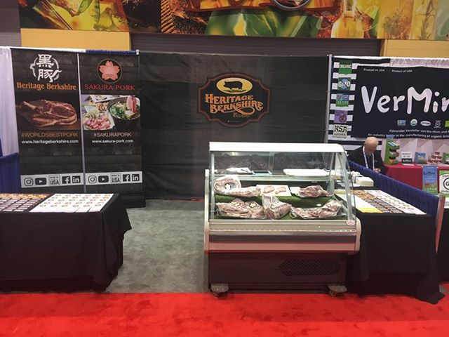 Come visit us at booth #7780 at the National Restaurant Show in Chicago!  #sakurapork #promiselandpork #heritageberkshirepork #worldsbestpork #nrafoodshow