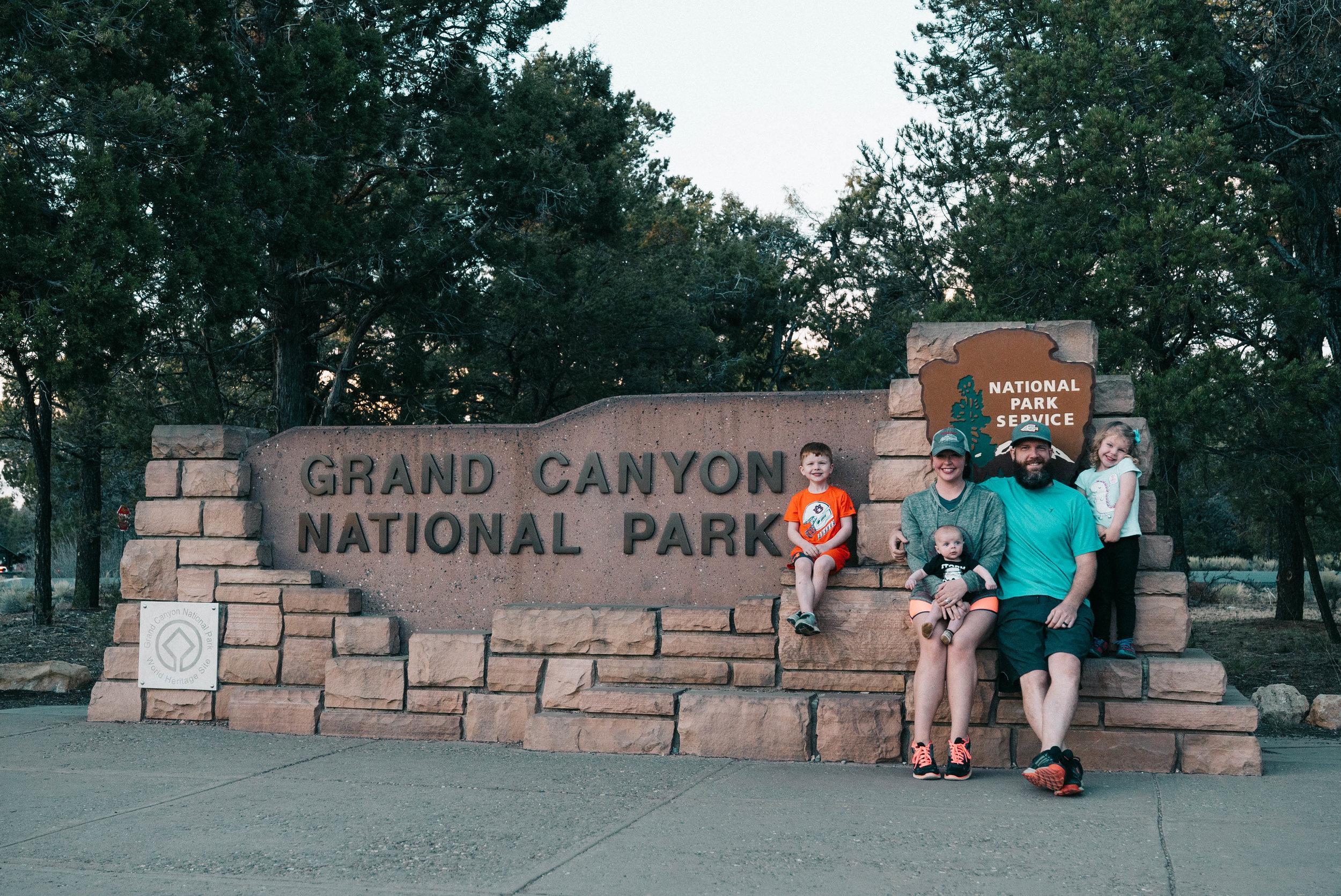 airstream family road trip at grand canyon