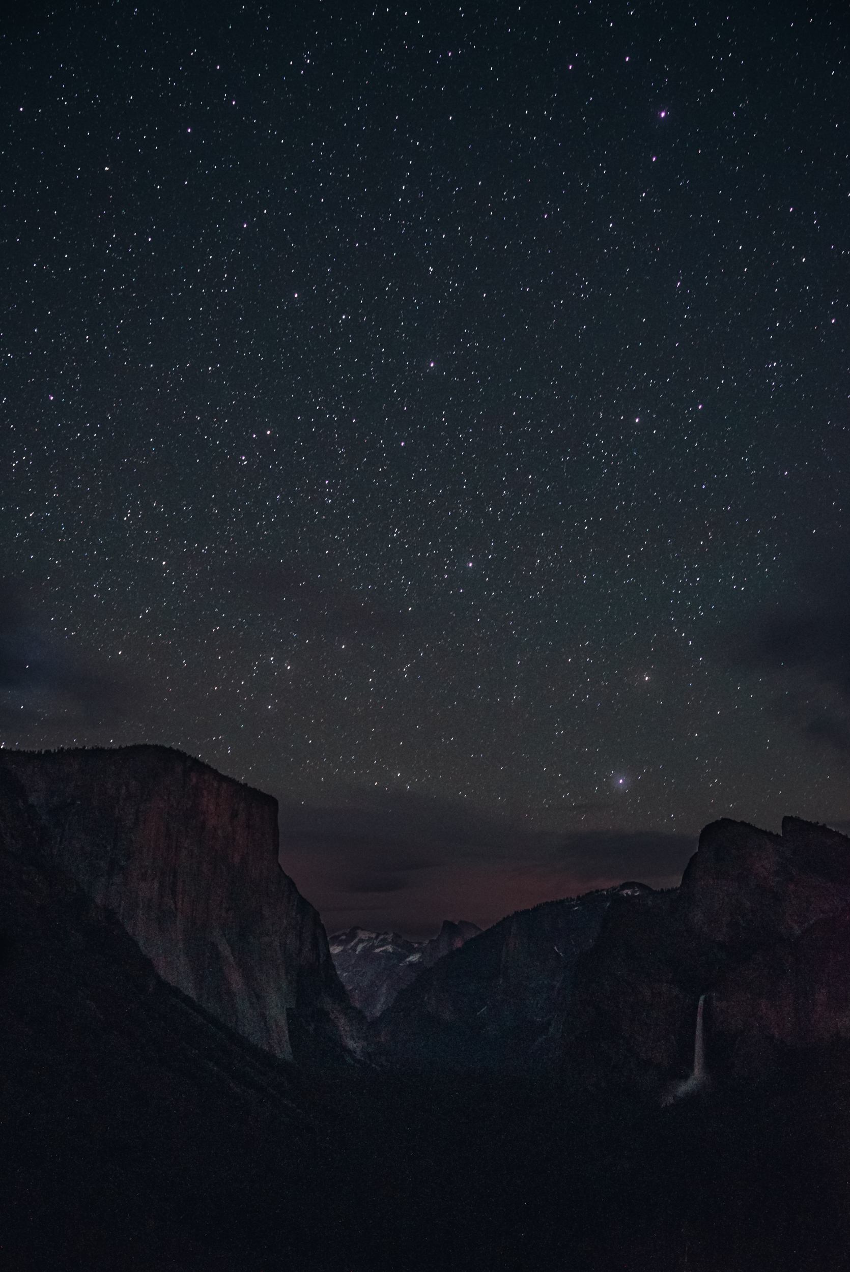 tunnel view at night
