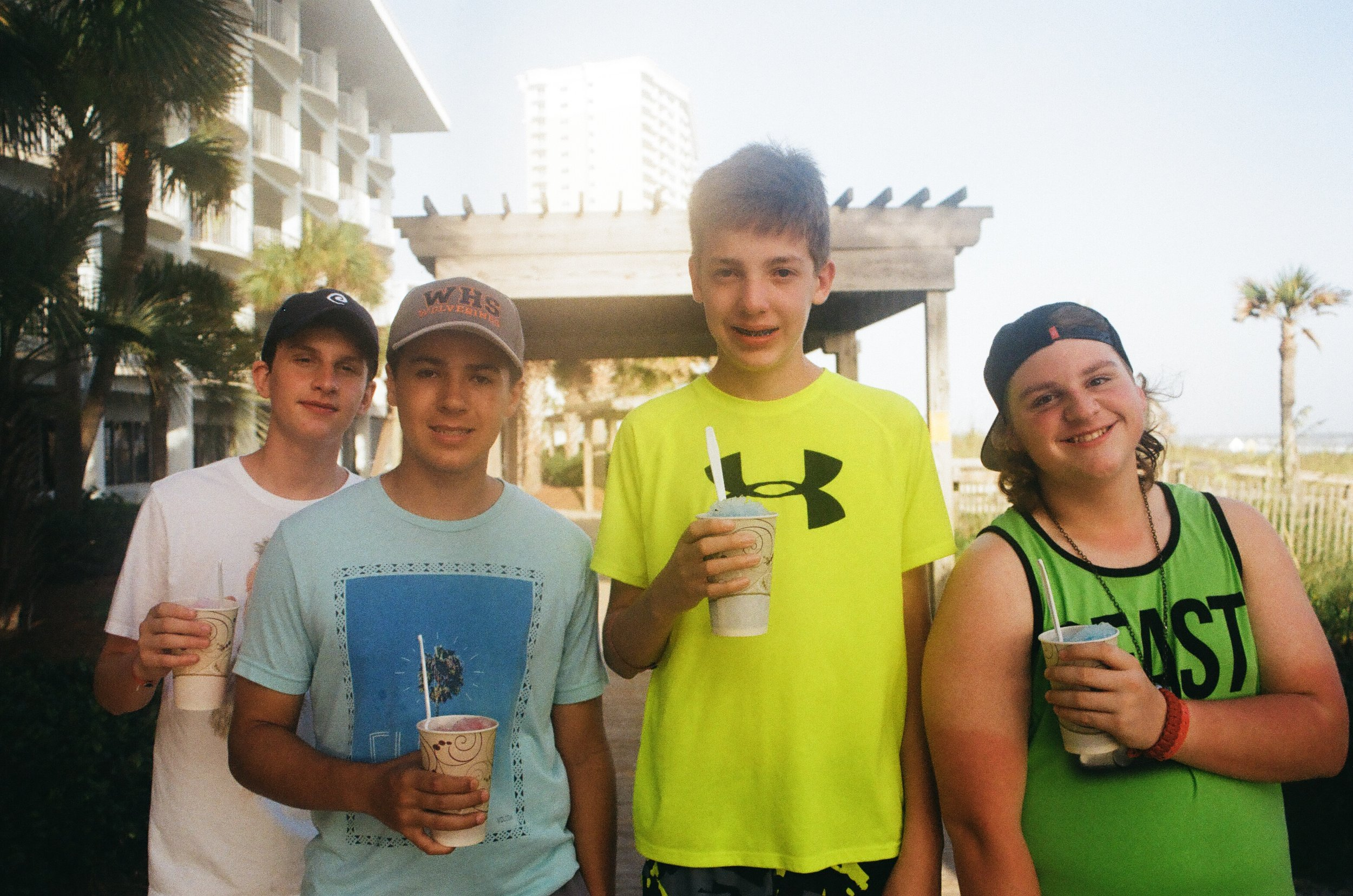 Pictured (left to right): James, Ayden, Dalton, Reese (happy campers)