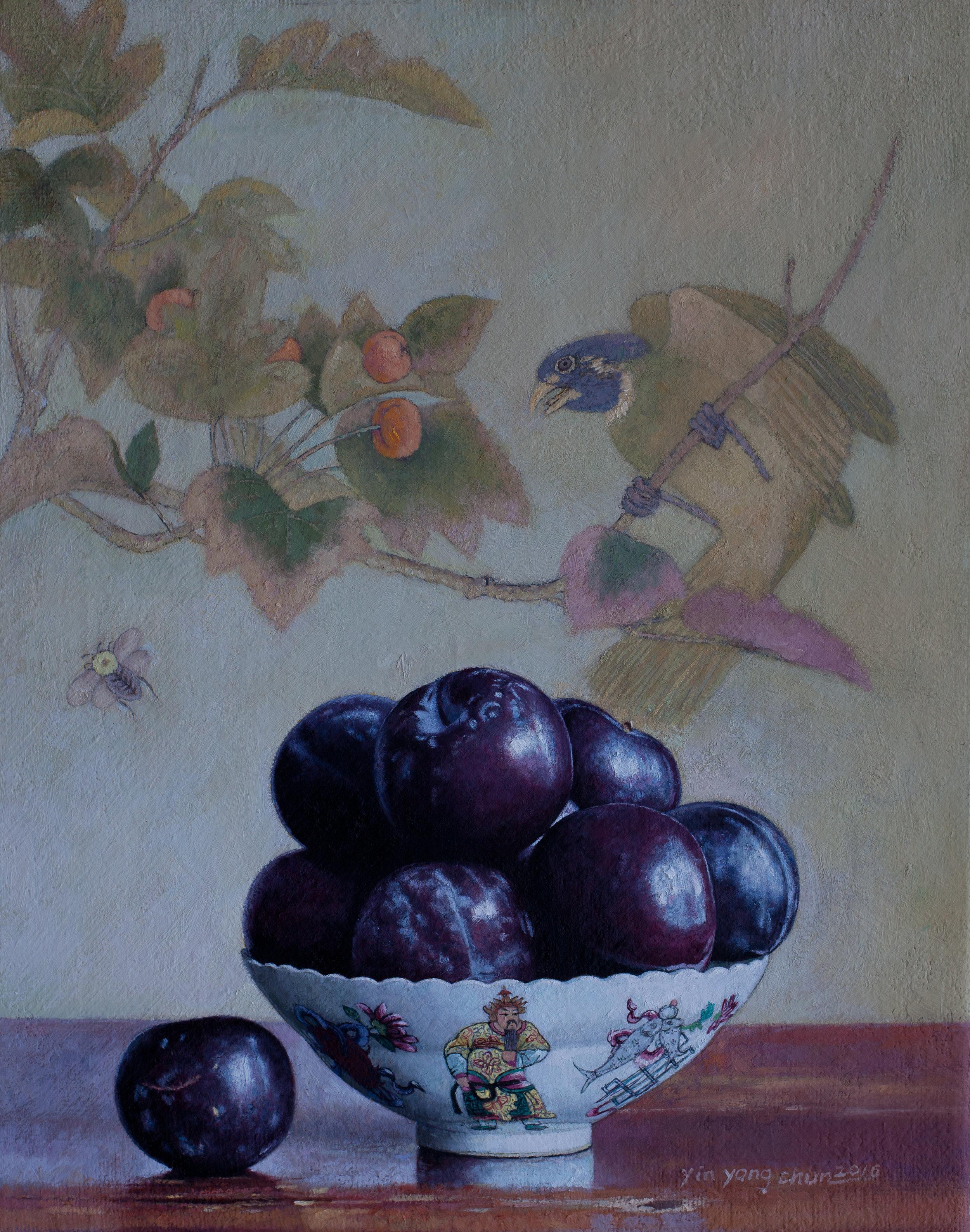 Black plums  15 x 19  2017