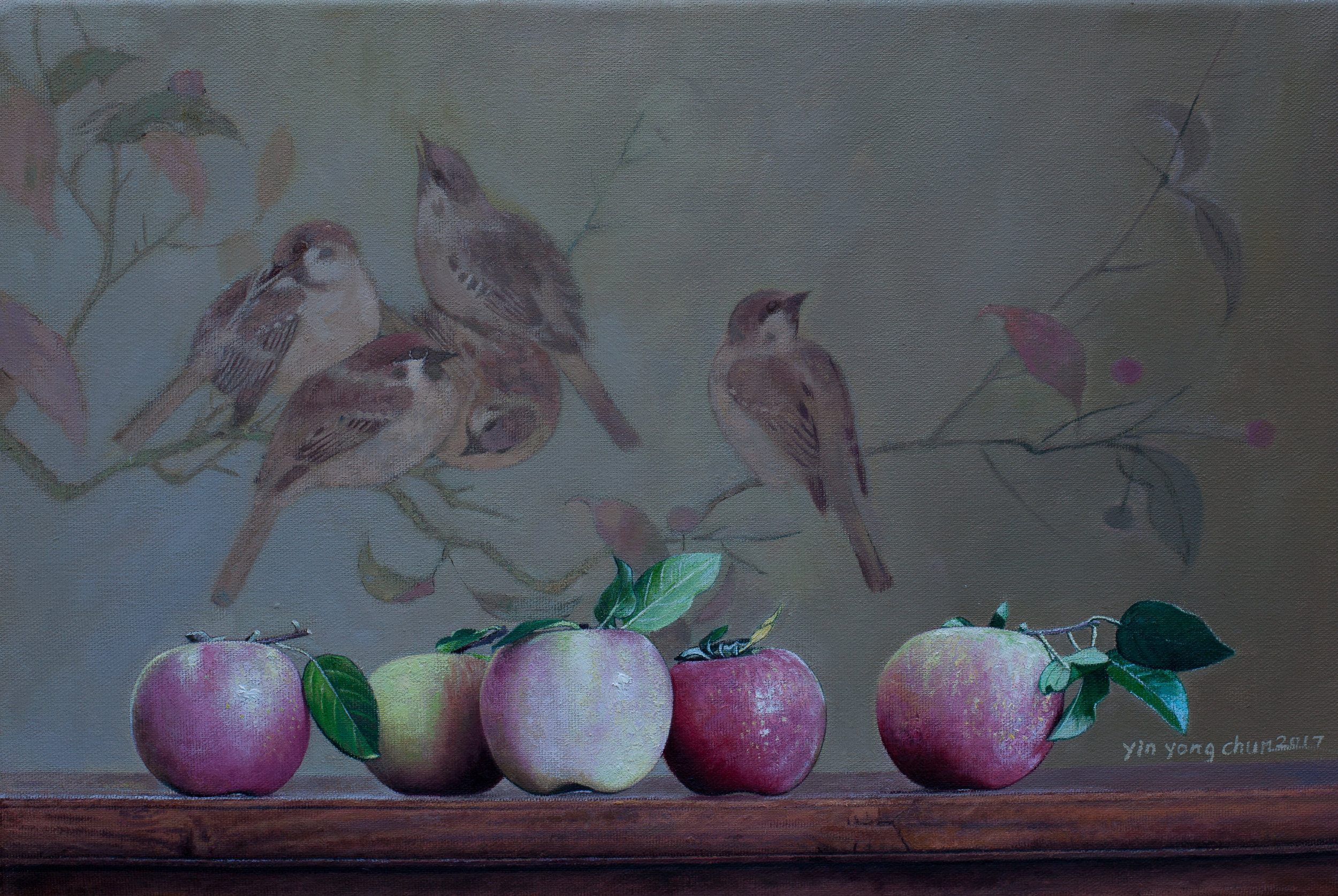 Apples and birds  18 x 12  2017