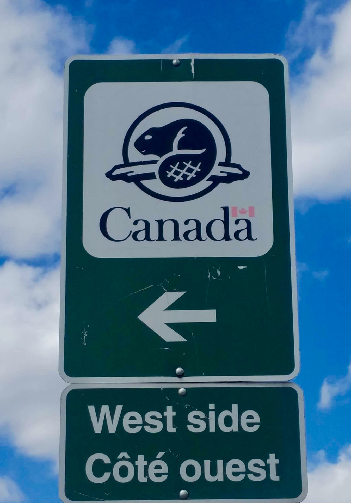 Parks Canada sign