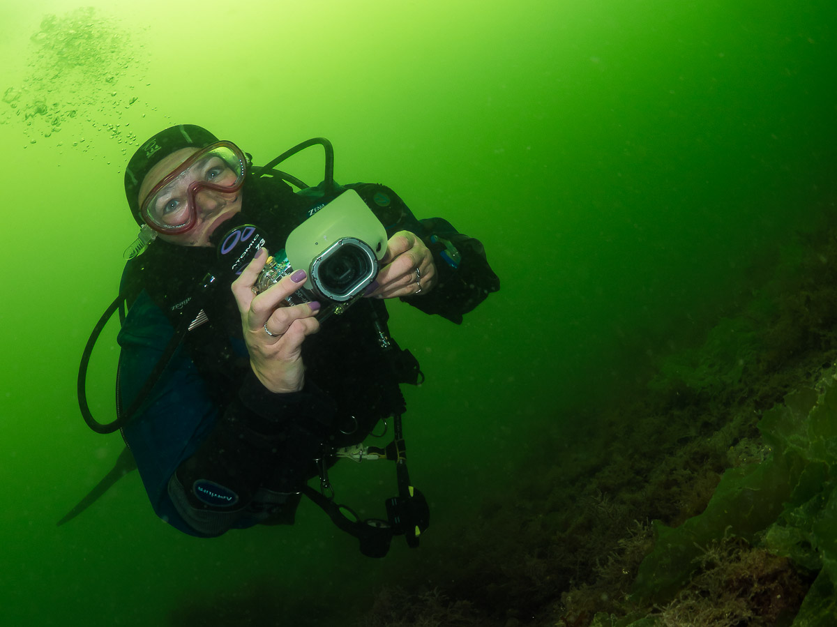 Taking a camera (even a small one) underwater with you immediately adds more taskloading. While you get used to it Auto or Underwater mode can be a good starting point.