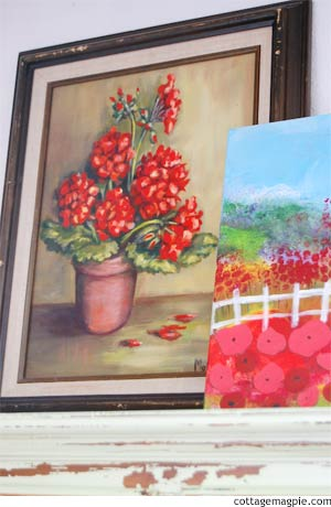 Thrifted Paintings via cottagemagpie.com