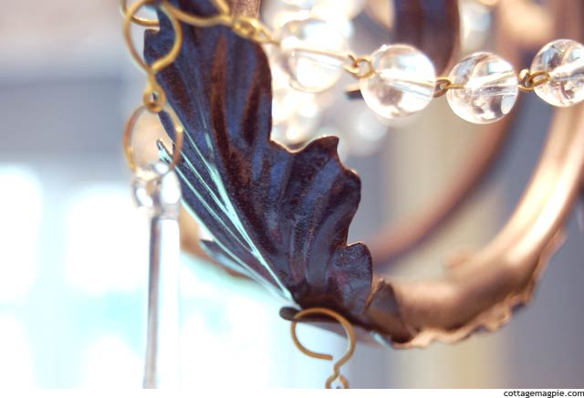 Leaf Detail on Baby Girl's Chandelier