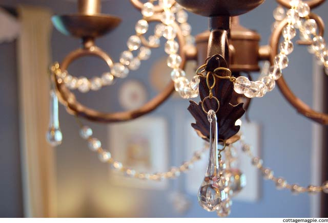 Chandelier in Baby Girl's Room