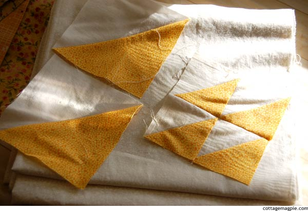 Hello Yellow HST Quilt Sample Units
