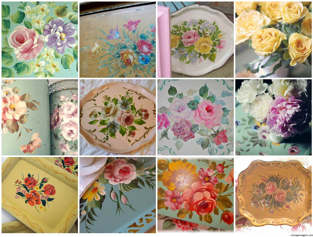 Tole Tray Photo Collage