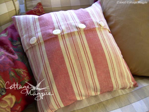 French-inspired Stripe Pillow