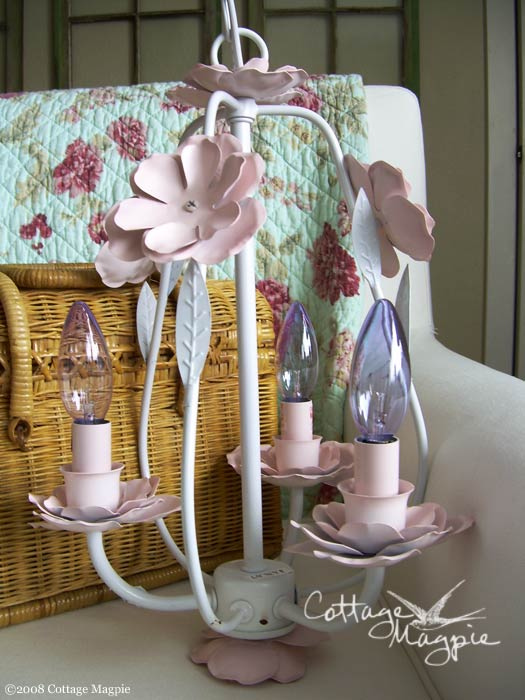 Pink and White Chandelier
