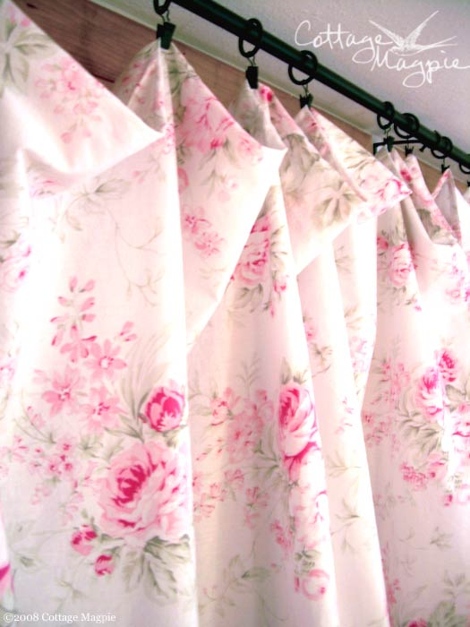 Pink Floral Curtains