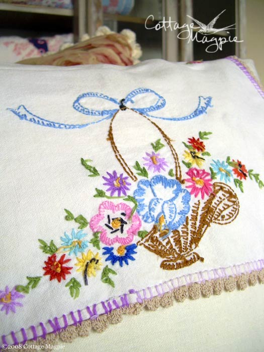 Pink Floral Embroidery