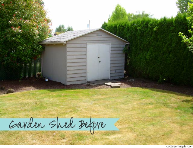 Dear Angela: Can My Garden Shed Be Cottage-y? via cottagemagpie.com