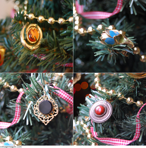 More Vintage Earring Mini Tree Ornaments
