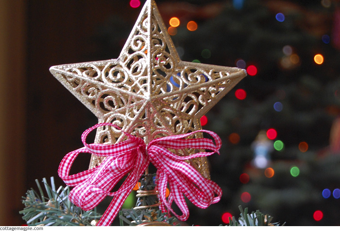 Gold Star Mini Tree Topper