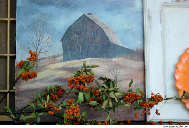 Vintage Thrifted Barn Painting