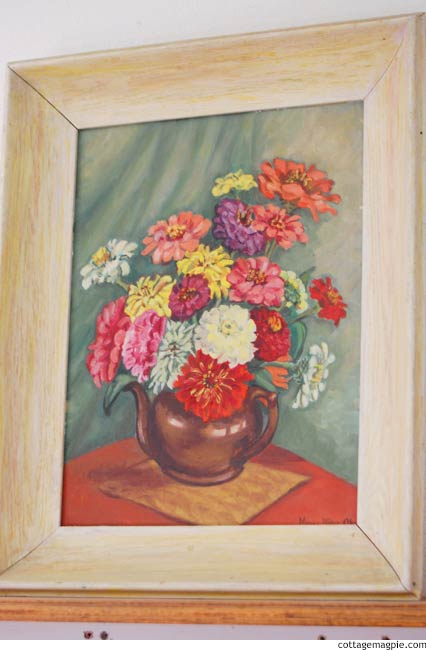 Floral Thrift Store Paintings via cottagemagpie.com
