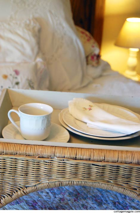 Wicker Breakfast Tray