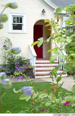 Front Entry at Valentine Cottage via Cottage Magpie