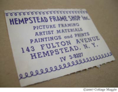 Vintage Frame Label