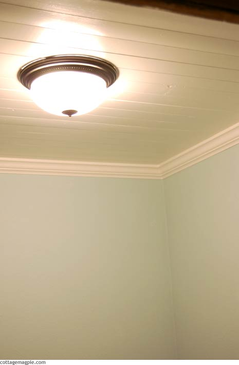 Guest Bathroom Ceiling and Floor
