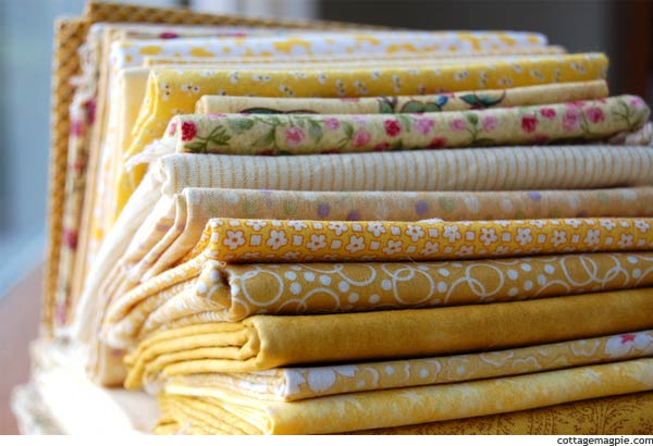 Yellow Quilting Fabric Fat Quarters