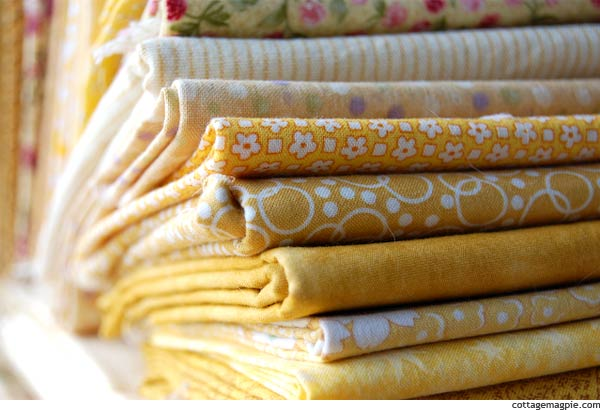 Yellow Quilt Fabric Fat Quarters