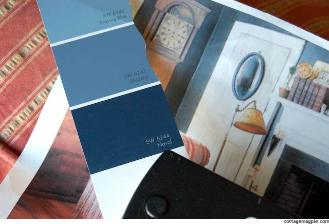 Sherwin Williams Naval SW 6244 Paint Chip via Cottage Magpie
