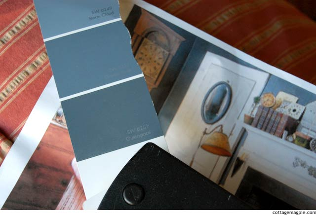 Sherwin Williams Outerspace SW 6251 Paint Chip via Cottage Magpie