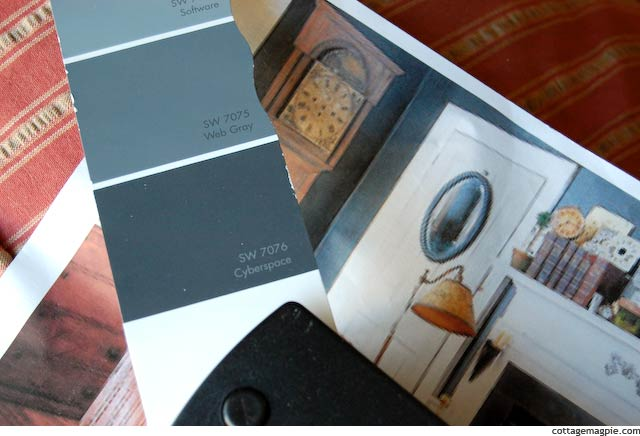 Sherwin Williams Cyberspace SW 7076 Paint Chip via Cottage Magpie
