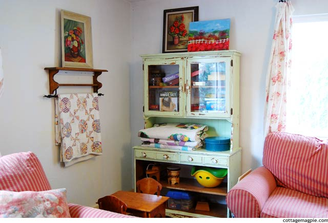 Painted Green Hutch via Cottage Magpie