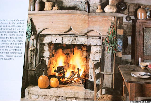 Rustic Mantel from Country Living Country Kitchens via cottagemagpie.com